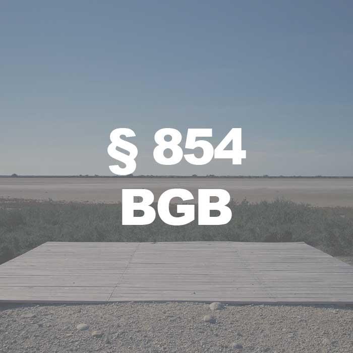 BGB (§ 854 Abs. 1 BGB) Erwerb des Besitzes
