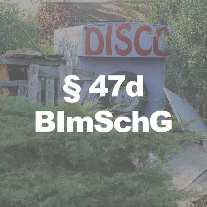 BImSchG (§ 47d Abs. 2 Satz 2 BImSchG) Lärmaktionspläne