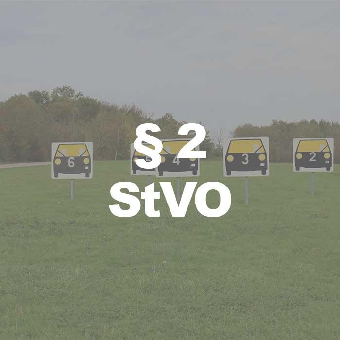 StVO (§ 2 Abs. 1 Satz 1 StVO) Straßenbenutzung durch Fahrzeuge