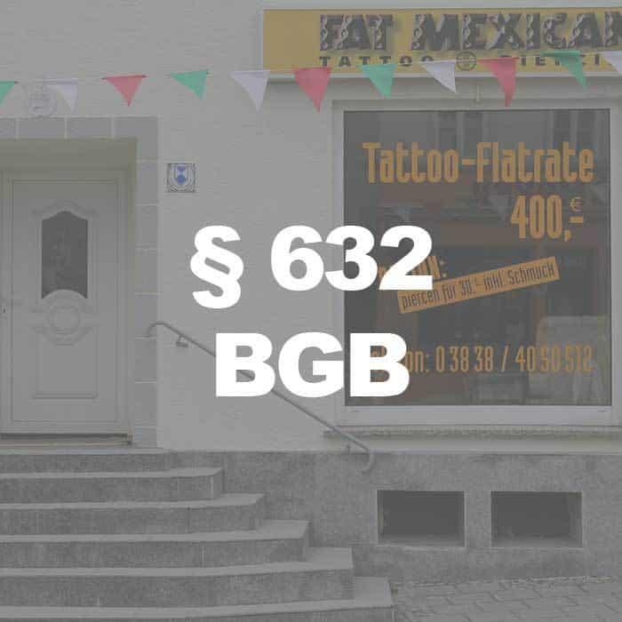 BGB (§ 632 Abs. 2 BGB) Vergütung