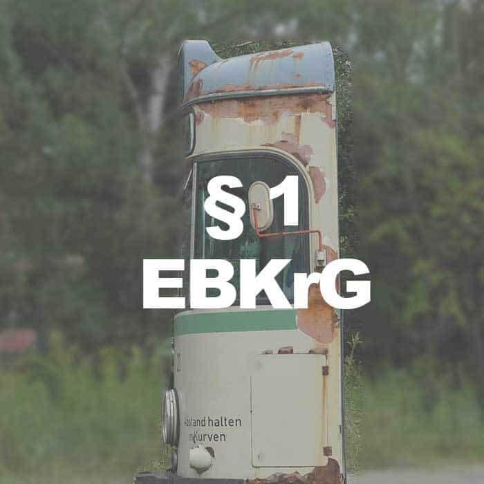 EBKrG (§ 1 Abs. 5 EBKrG) Gesetzliche Fiktion