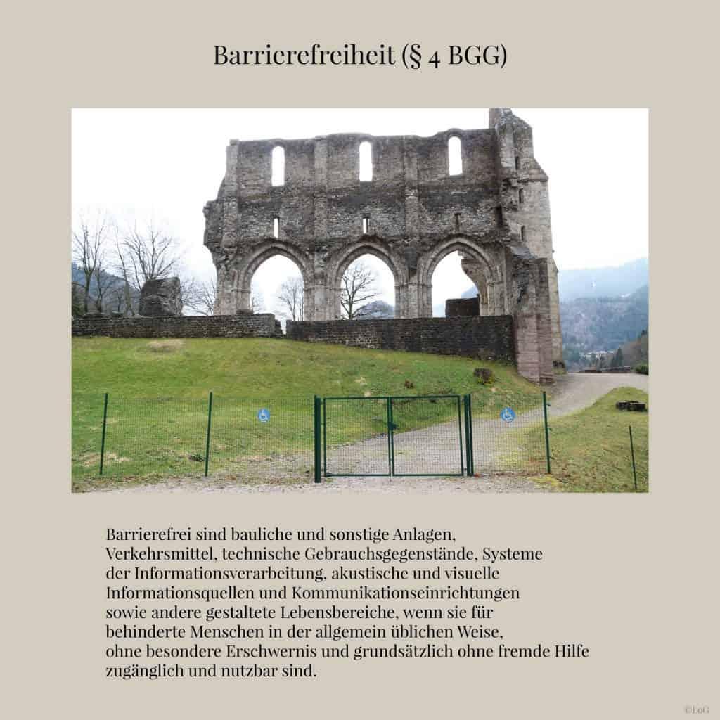 BGG (§ 4 BGG) Barrierefreiheit