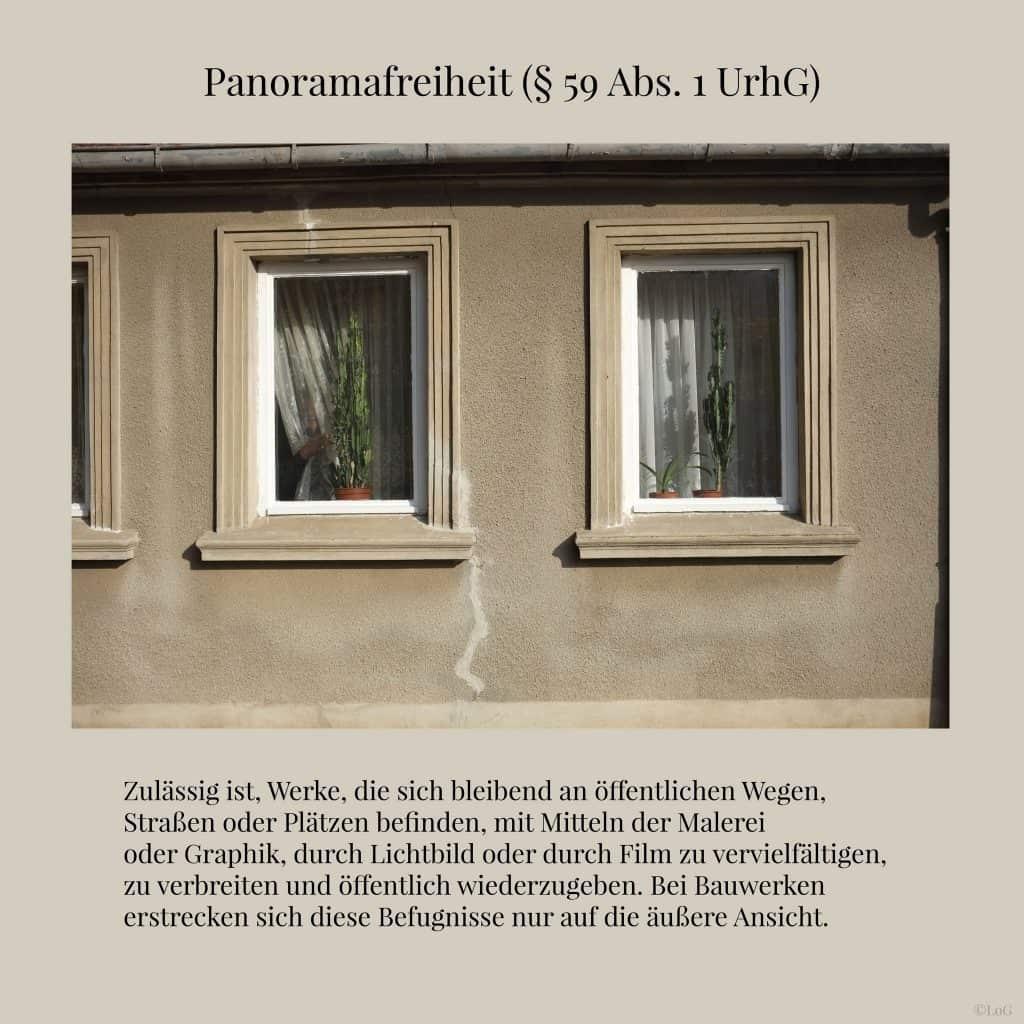 UrhG (§ 59 Abs. 1 UrhG) Panoramafreiheit
